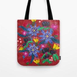 Blue Blooms Tote Bag