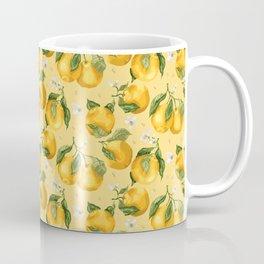 Fresh Juicy Oranges with Flowers Coffee Mug