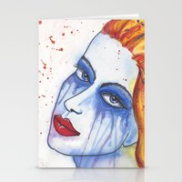 emily rickard Stationery Cards featuring Emily by claudia beldent