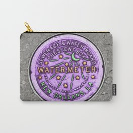 New Orleans Mardi Gras NOLA Water Meter Carry-All Pouch