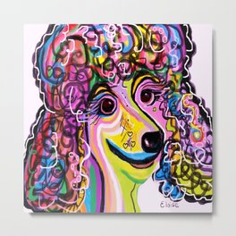 Picture Perfect Poodle Metal Print