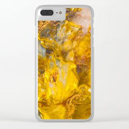 Fire Crystal - gemstones, photography #society6 Clear iPhone Case