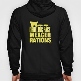 Grueling Pace Meager Rations (yellow) Hoody