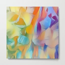 Soft Multi-color Pastel Abstract Metal Print