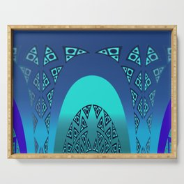 Orgy in blue pattern Serving Tray