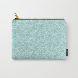 Blue Scribbles Pattern 09 Carry-All Pouch