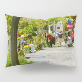Summer view of Main Street, Falmouth on Cape Cod Pillow Sham