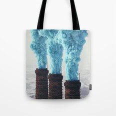 Blue Pollution Tote Bag