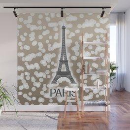 Paris: City of Light, Eiffel Tower (Beige) Wall Mural