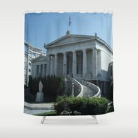 library Shower Curtains featuring The Library  by Allisa Thome