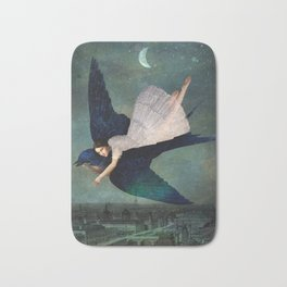 fly me to paris Bath Mat