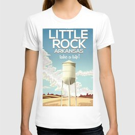 Little Rock Arkansas Vintage travel poster T-shirt