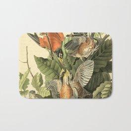 American robin Bath Mat