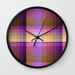 Complimentary Color Harmony ..Yellow /purple Wall Clock