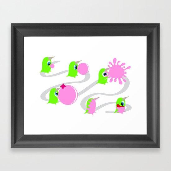 Bubol bubble gum Framed Art Print