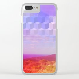 Ultra Surreal Countryside Violet Rainbow Clear iPhone Case