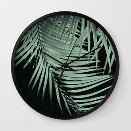 Palm Leaves Green Vibes #2 #tropical #decor #art #society6 Wall Clock