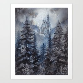 Snow Starlight Art Print