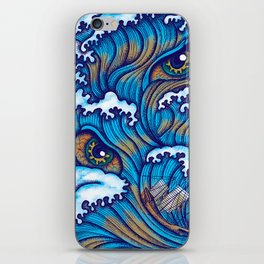 Spirit of the waves iPhone Skin