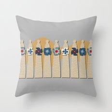 Gaudi Chimneys Throw Pillow