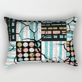Distressed pattern Rectangular Pillow