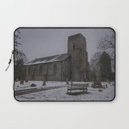 Dunkirk Church In Winter Laptop Sleeve