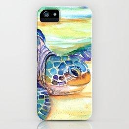 Rainbow Sea Turtle 2 iPhone Case
