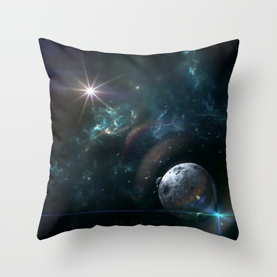Experimental Solar System Throw Pillow