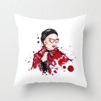 vogue Throw Pillows featuring VOGUE by CARLOS CASANOVA