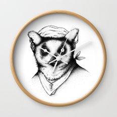 Hipster Lemur Wall Clock