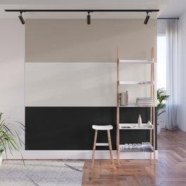 black tan cream bold stripes Wall Mural
