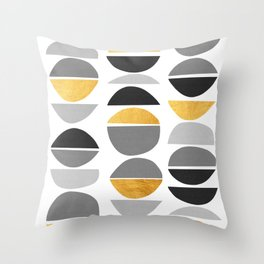 Modern pattern with gold IV Throw Pillow