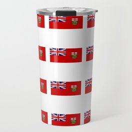 Flag of manitoba -Manitoban,rupert,Winnipeg,Brandon,Steinbach,portage,canada. Travel Mug