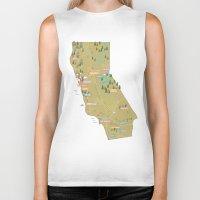 california Biker Tanks featuring California by McKean Studio