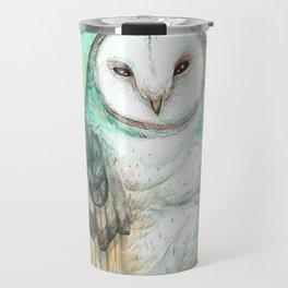Owl Watercolor painting Travel Mug
