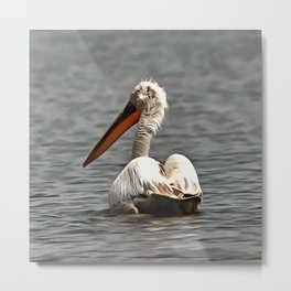 The Sea Breeze Blows The Pelican Where He Wants To Go Metal Print