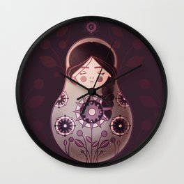 Yuliana doll Wall Clock