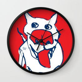 Citydog - red Wall Clock