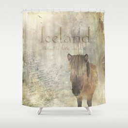 Iceland, forged by fire and ice Shower Curtain