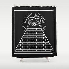 The Eye of Providence Pyramid Shower Curtain