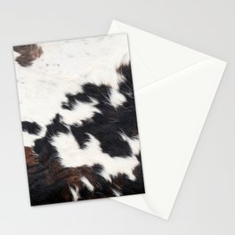 Brown Cowhide Stationery Cards