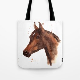 Watercolor HORSE painting, horses, hore art, stallion Tote Bag