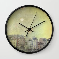 Paris Row Wall Clock