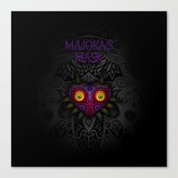 majoras mask Canvas Prints featuring Majora's Mask by Art & Be