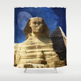 Sphinx  and Pyramid Shower Curtain