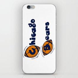 Da Bears Font Typography iPhone Skin
