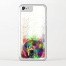 Bear pride Clear iPhone Case