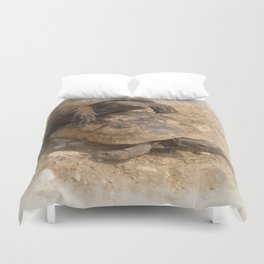 Slow Love - Tortoises Duvet Cover
