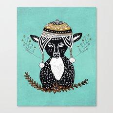 Hipster Deer Canvas Print