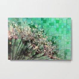 Fresh Dandelions Mosaic Metal Print